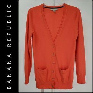 Banana Republic Long Sleeve Button Front Cardigan